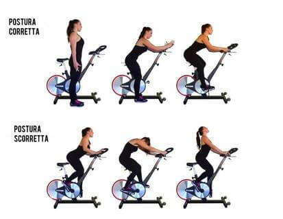 Bici da spinning postura