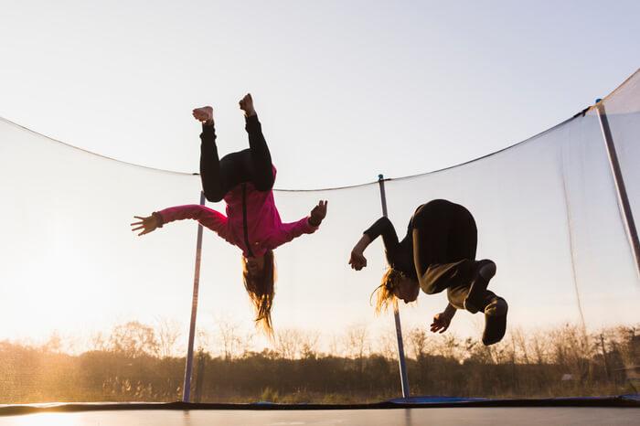 trampolino elastico bambini