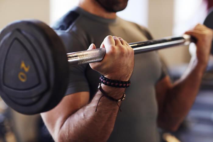 bilanciere con pesi